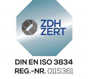 Metallschmiede Prahm zertifiziert nach DIN EN ISO 3834